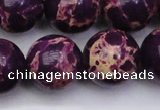 CDE2053 15.5 inches 22mm round dyed sea sediment jasper beads