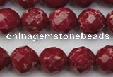 CDE2135 15.5 inches 16mm faceted round dyed sea sediment jasper beads