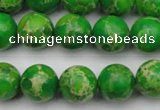 CDE2223 15.5 inches 10mm round dyed sea sediment jasper beads