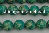 CDE2244 15.5 inches 8mm round dyed sea sediment jasper beads