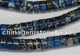 CDE225 15.5 inches 4*8mm heishi dyed sea sediment jasper beads