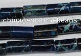 CDE228 15.5 inches 8*16mm tube dyed sea sediment jasper beads