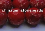 CDE2518 15.5 inches 22mm faceted round dyed sea sediment jasper beads