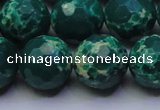 CDE2572 15.5 inches 16mm faceted round dyed sea sediment jasper beads