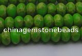 CDE2657 15.5 inches 7*10mm rondelle dyed sea sediment jasper beads
