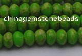 CDE2658 15.5 inches 8*12mm rondelle dyed sea sediment jasper beads