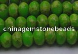 CDE2659 15.5 inches 10*14mm rondelle dyed sea sediment jasper beads
