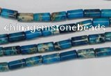 CDE278 15.5 inches 4*8mm tube dyed sea sediment jasper beads