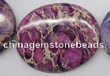CDE470 15.5 inches 40*50mm oval dyed sea sediment jasper beads