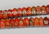 CDE501 15.5 inches 6*10mm rondelle dyed sea sediment jasper beads