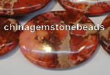 CDE536 15.5 inches 30*40mm oval dyed sea sediment jasper beads