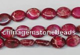 CDE642 15.5 inches 8*10mm oval dyed sea sediment jasper beads