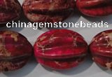 CDE769 15.5 inches 18*25mm star fruit shaped dyed sea sediment jasper beads