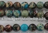 CDE802 15.5 inches 8mm round dyed sea sediment jasper beads wholesale