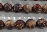 CDE845 15.5 inches 14mm round dyed sea sediment jasper beads wholesale