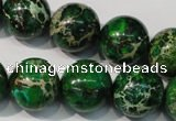 CDE958 15.5 inches 18mm round dyed sea sediment jasper beads