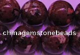 CDM54 15 inches 12mm round strawberry dalmatian jasper beads