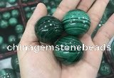 CDN22 30mm round natural malachite gemstone decorations
