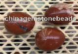 CDN319 30*40mm egg-shaped red jasper decorations wholesale