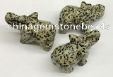 CDN408 25*50*35mm elephant dalmatian jasper decorations wholesale