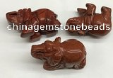 CDN411 25*50*35mm elephant red jasper decorations wholesale
