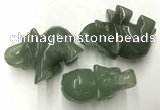 CDN419 25*50*35mm elephant green aventurine decorations wholesale