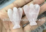 CDN471 30*40mm angel rose quartz decorations wholesale