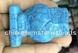 CDN574 35*50mm owl imitation turquoise decorations wholesale