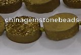CDQ712 8 inches 13*18mm oval druzy quartz beads wholesale