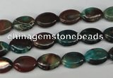 CDS205 15.5 inches 8*10mm oval dyed serpentine jasper beads