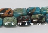 CDS23 16 inches 12*16mm rectangle dyed serpentine jasper beads wholesale