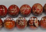 CDT495 15.5 inches 14mm round dyed aqua terra jasper beads