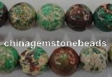 CDT855 15.5 inches 14mm round dyed aqua terra jasper beads wholesale