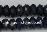 CDU120 15.5 inches 6*10mm faceted rondelle blue dumortierite beads
