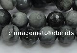 CEE22 15.5 inches 12mm faceted round eagle eye jasper beads wholesale