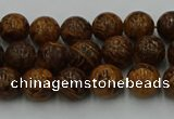 CEJ301 15.5 inches 6mm round elephant skin jasper beads wholesale