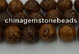 CEJ302 15.5 inches 8mm round elephant skin jasper beads wholesale