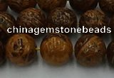 CEJ304 15.5 inches 12mm round elephant skin jasper beads wholesale