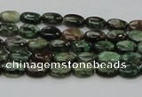 CEM10 15.5 inches 6*8mm oval emerald gemstone beads wholesale