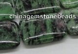 CEP19 15.5 inches 22*30mm rectangle epidote gemstone beads