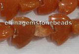 CFG797 12.5 inches 14*18mm carved animal red aventurine beads