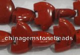 CFG805 12.5 inches 14*18mm carved animal red jasper beads