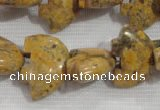 CFG806 12.5 inches 14*18mm carved animal leopard jasper beads