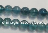 CFL1002 15.5 inches 8mm round blue fluorite beads wholesale