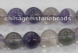 CFL204 15.5 inches 12mm round purple fluorite gemstone beads wholesale