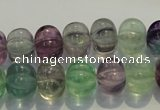 CFL468 15.5 inches 10*14mm pumpkin natural fluorite beads