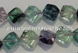CFL485 15.5 inches 8*8mm cube natural fluorite beads