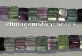 CFL488 15.5 inches 6*6mm cube natural fluorite beads