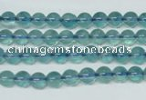 CFL661 15.5 inches 6mm round AB grade blue fluorite beads wholesale