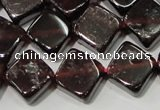 CGA472 15.5 inches 8*8mm diamond natural red garnet beads